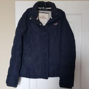Navy, puffer ski jacket